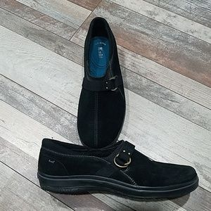 Keds Shoes - Keds black suede slip-on comfort shoes size 10